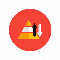 levels, needs, of, plan, pyramid, strategy icon