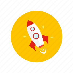 cosmos, flying, level up, rocket, space, speed, startup icon
