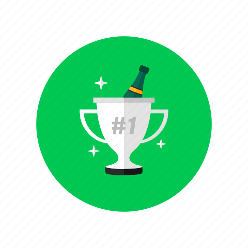champagne, first place, strategy, successful, victory icon