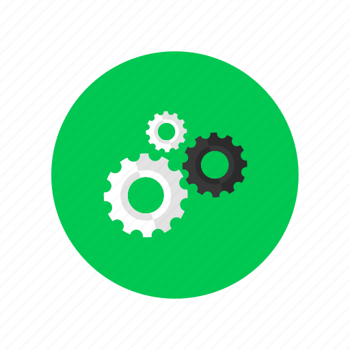 functional, gears, strategy, working icon