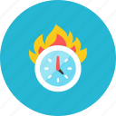 burn, time icon