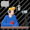 man, online, streamer icon