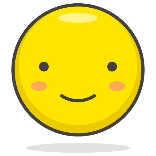 face, slightly, smiling icon