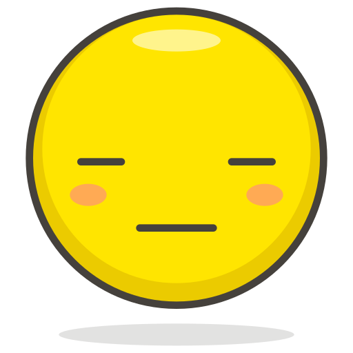 expressionless, face icon