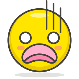 anguished, face icon