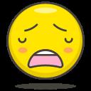 face, weary
