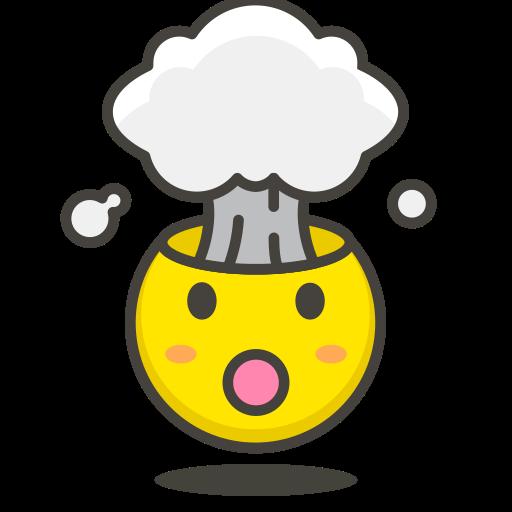 exploding, head icon