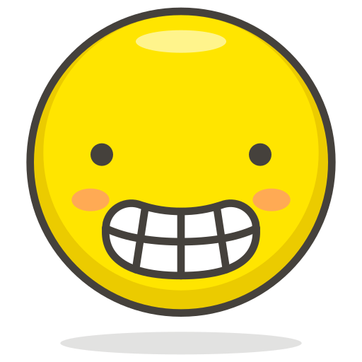 face, grimacing icon