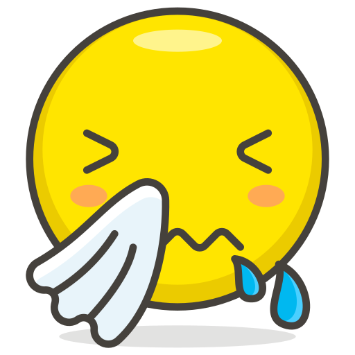 face, sneezing icon