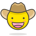 cowboy, face, hat icon