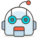 face, robot icon