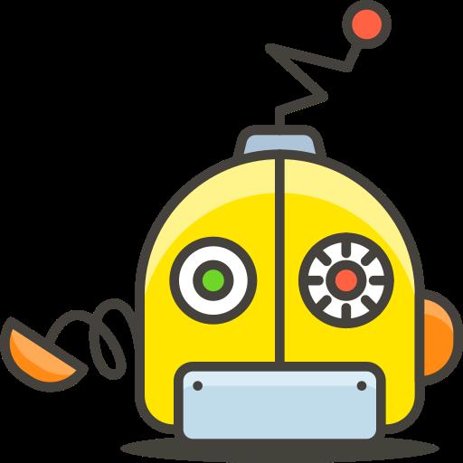 2, face, robot icon