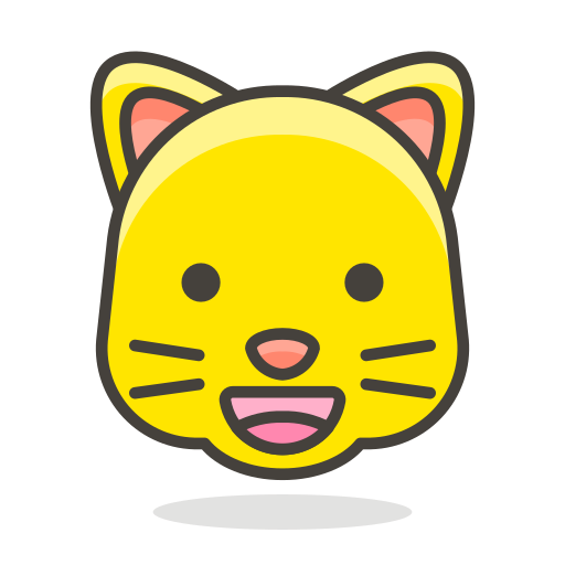 cat, face, grinning icon