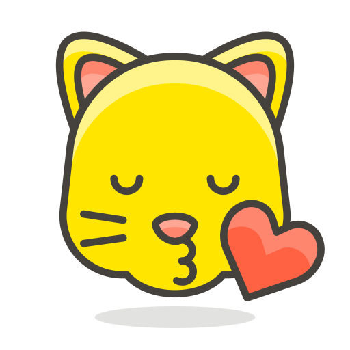 cat, face, kissing icon