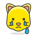 cat, crying, face icon