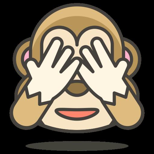 evil, monkey, no, see icon