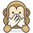 evil, monkey, no, speak icon