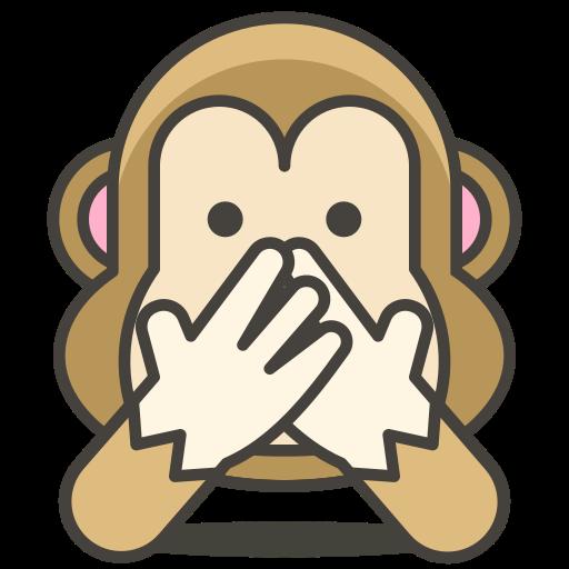 evil, monkey, no, speak icon