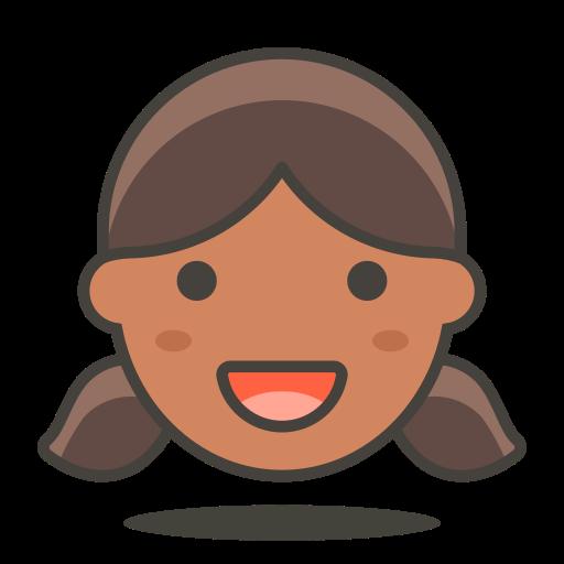 3, girl icon