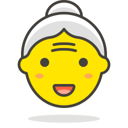1, old, woman icon