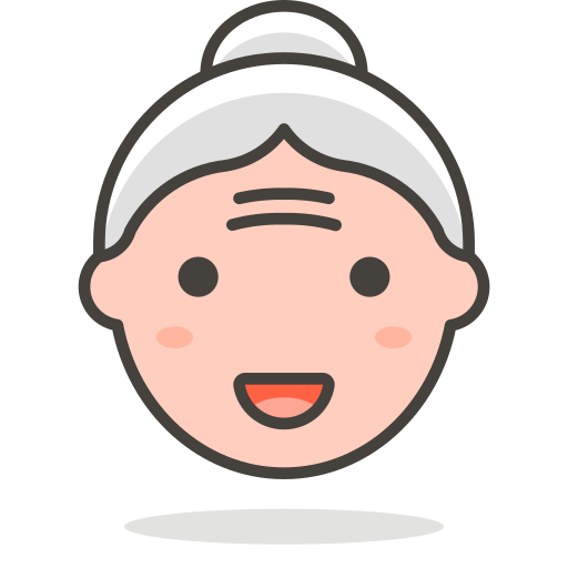 2, old, woman icon