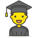 1, man, student icon