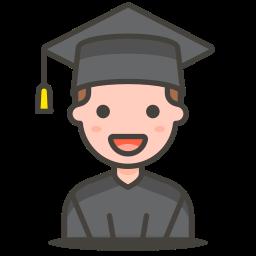 2, man, student icon