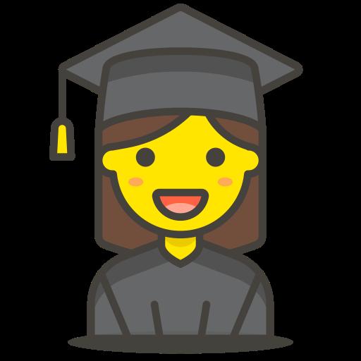 1, student, woman icon
