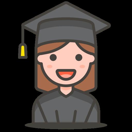 2, student, woman icon
