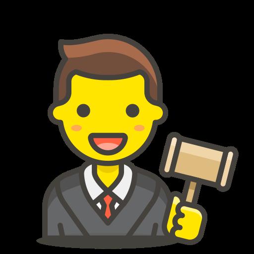1, judge, man icon