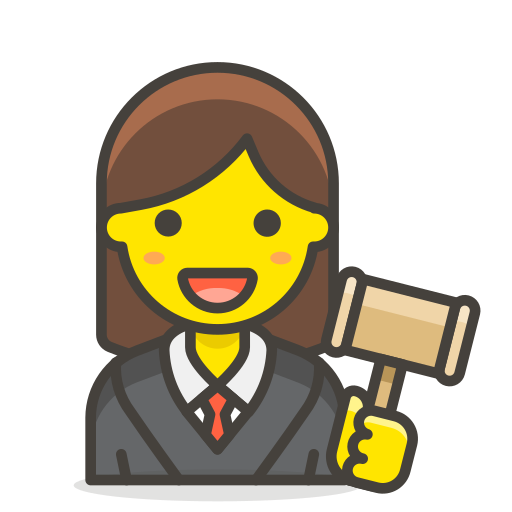1, judge, woman icon