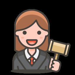 2, judge, woman icon