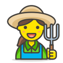 farmer, woman icon