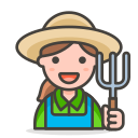 2, farmer, woman icon