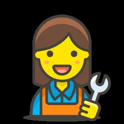 1, mechanic, woman icon