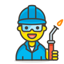 factory, man, worker icon