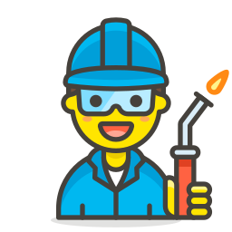 1, factory, man, worker icon
