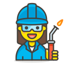 1, factory, woman, worker icon