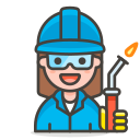 2, factory, woman, worker icon