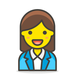 1, office, woman, worker icon