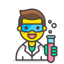 1, man, scientist icon