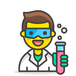 1, man, scientist icon