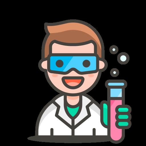 2, man, scientist icon