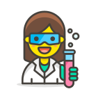 1, scientist, woman icon