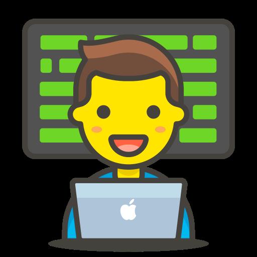 1, man, technologist icon