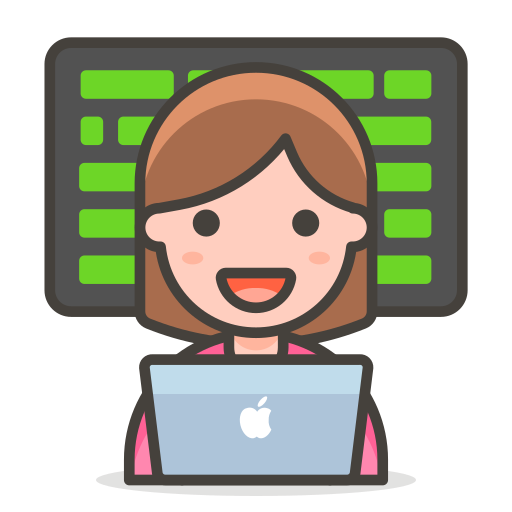 2, technologist, woman icon