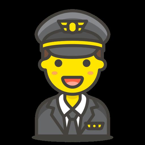 1, man, pilot icon