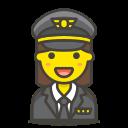 1, pilot, woman icon