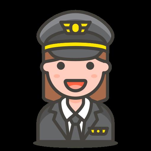 2, pilot, woman icon