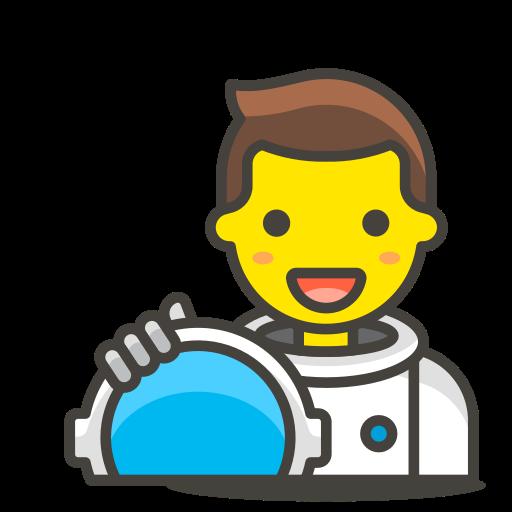 1, astronaut, man icon